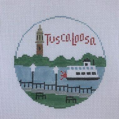 Tuscaloosa needlepoint canvas by Kathy Schenkel Designs