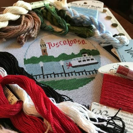 Tuscaloosa canvas with threads