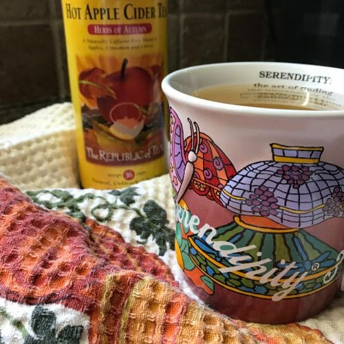 My first cup of Hot Apple Cider Tea of the season.