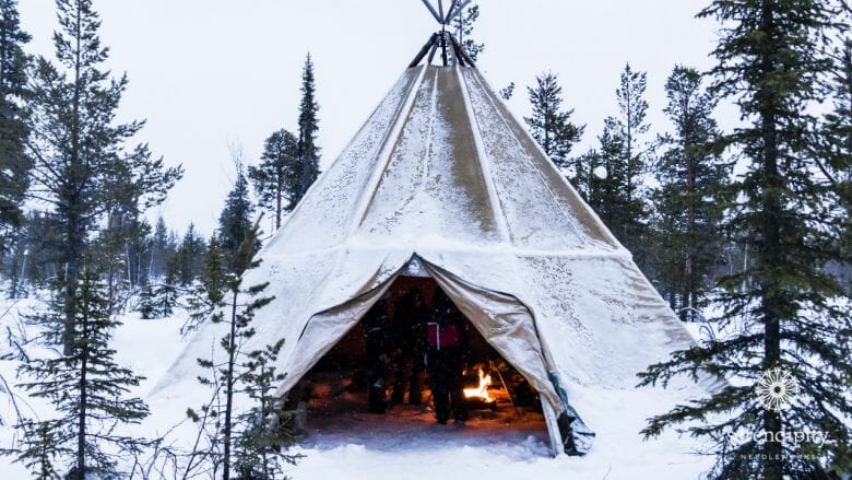 A lavvu is the traditional shelter for the Sámi people.