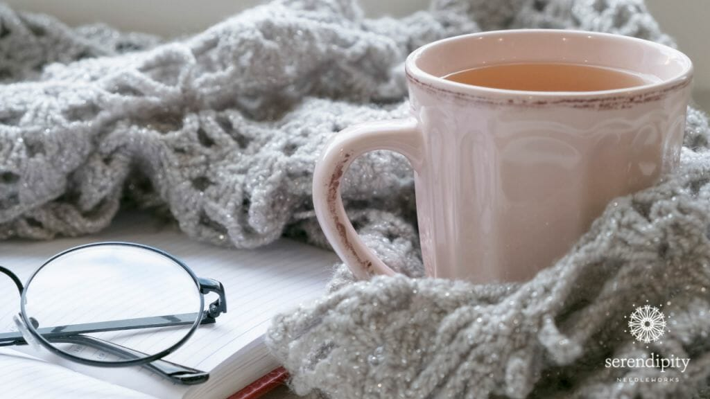 A cup of tea + a cozy blanket = hygge!