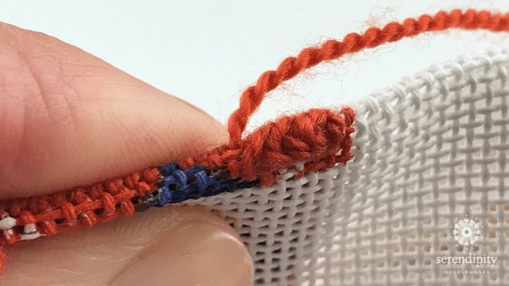 Here's what your binding stitch should look like.