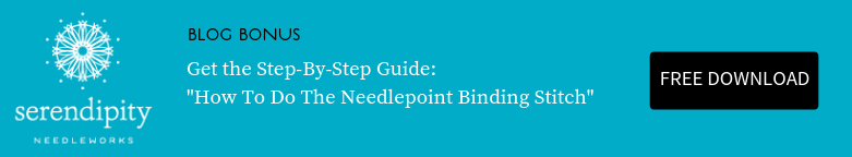 Click here to get your step-by-step guide for how to do the needlepoint binding stitch.