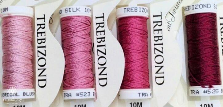 Trebizond is a pure filament silk thread.