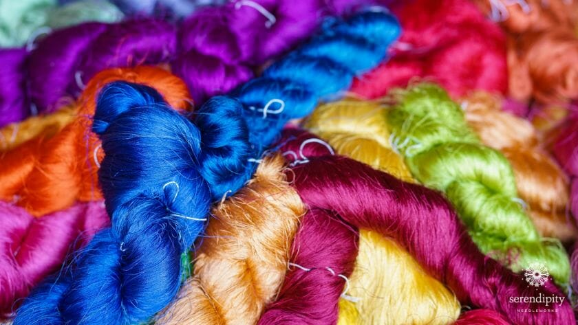Tips for using silk thread on your needlepoint projects.