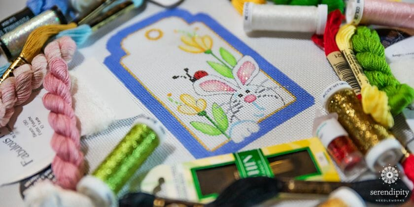 Learn how to stitch fabulous flowers in my brand new online needlepoint workshop.