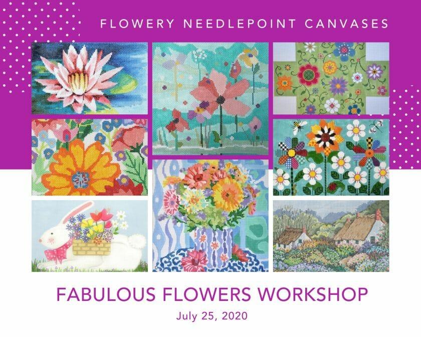 Fabulous Flowers Needlepoint Workshop