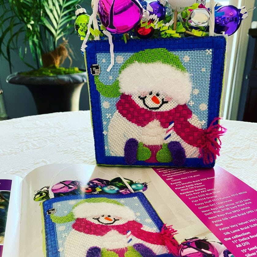 """""""Jingle"""" was created especially for Jingle in July, my 2019 needlepoint retreat."""