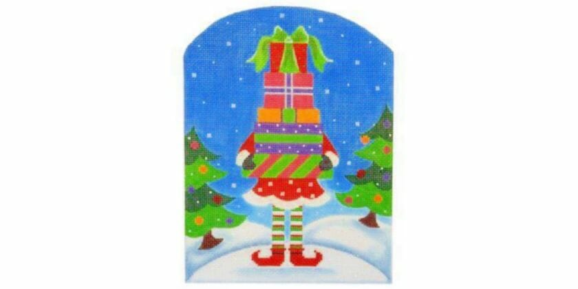Pepperberry Designs North Pole Elf is a terrific place to try out some crossed stitches.