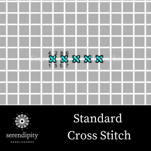 The standard cross stitch is the simplest of all crossed stitches.