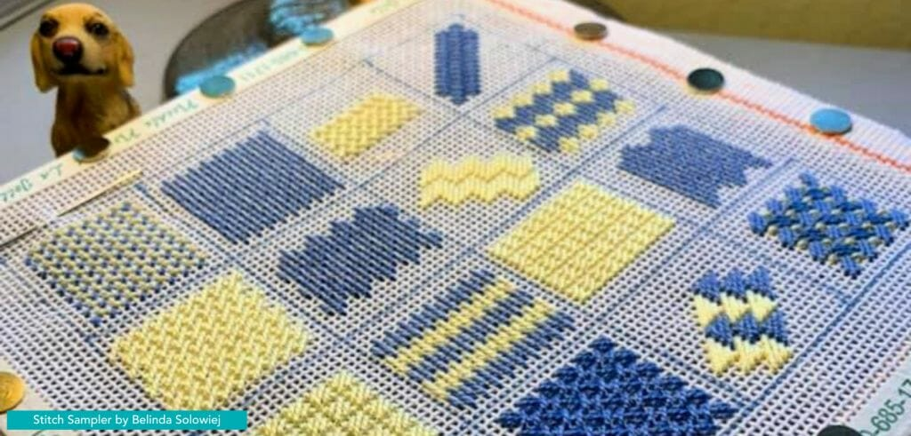 Stitch samplers are a terrific way to practice new stitches.