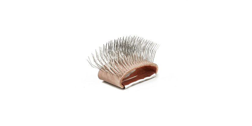 A Bunka brush is a handy tool that you can use for fluffing up fuzzy stitches and threads.