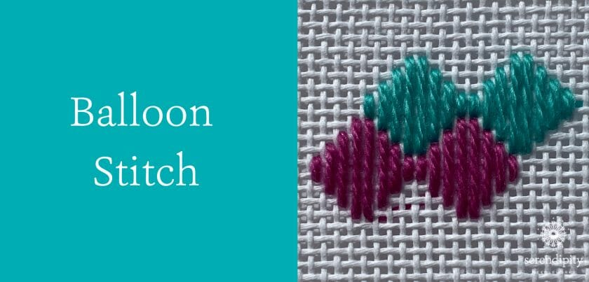 Balloon stitch is great for backgrounds on your needlepoint canvases!