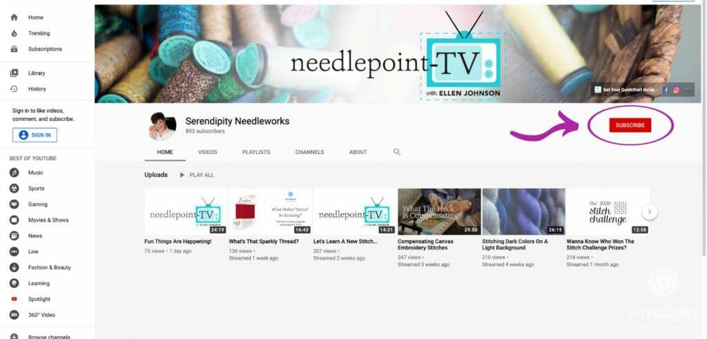 Needlepoint TV