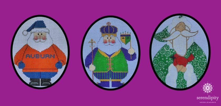 Which Santa should I stitch for my December project?