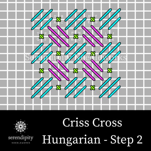 Criss Cross Hungarian Stitch step 2