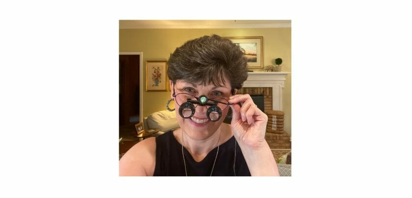 Wearing my CraftOptics glasses...
